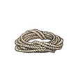 roll of ship rope cartoon vector image