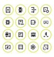 Set round icons of safe vector image
