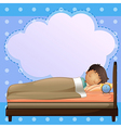 A boy sleeping soundly with an empty callout vector image vector image