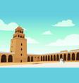al-qirawan landmark building in riyadh vector image