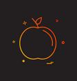 apple school icon design vector image vector image