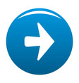 arrow icon blue vector image
