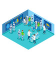 artificial intelligence laboratory composition vector image vector image
