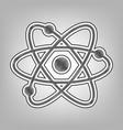 atom sign pencil sketch vector image vector image