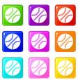 basketball ball icons 9 set vector image vector image