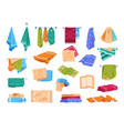 bath fabric towels kitchen or hands hanging on vector image vector image