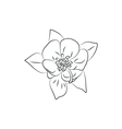 beautiful fuchsia flower simple black lined icon vector image vector image