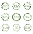 Bio label set vector image