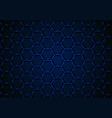 blue hexagonal 3d mesh background vector image vector image