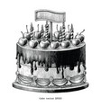 cake hand drawing vintage clip art isolated on vector image vector image