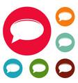 chat icons circle set vector image vector image