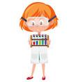 children in scientist costume cartoon character vector image vector image