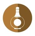 cognac bottle alcochol drink style shadow vector image vector image