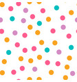 Cute circle seamless pattern on white background