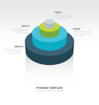 Cylinder infographic template design vector image