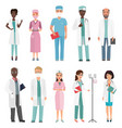 doctors nurses and medical staff medical team vector image vector image