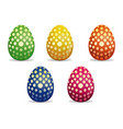 easter eggs painted with polka dots vector image vector image