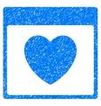 Favourite Heart Calendar Page Grainy Texture Icon vector image vector image