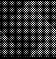 geometrical abstract black and white dot pattern vector image vector image