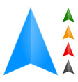 gps arrow - pointer icon in 5 color change it to vector image