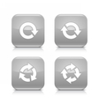 Gray arrow refresh reload rotation repeat icon vector image vector image