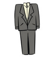 gray man suit on white background vector image vector image