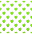 Green apple pattern cartoon style vector image