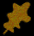 hexagon halftone oak leaf icon vector image