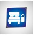 hotel bed sleep do not disturb button design vector image