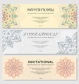 invitational cards set vector image vector image