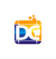 letter dc precision accurate efficiency vector image