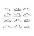 lines sky clouds drawn pencil simple hands vector image vector image