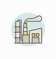 manufacturing plant colorful icon vector image vector image