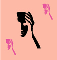 Mask sillhouette vector image