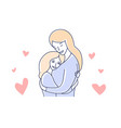 motherhood mother and daughter mom hugging kid vector image vector image