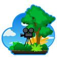 nature camera vector image