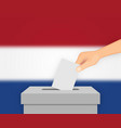 netherlands election banner background vector image
