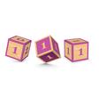 number 1 wooden alphabet blocks