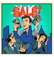 Panic giant overstock business concept vector image