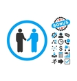 Persons Agreement Flat Icon with Bonus vector image vector image