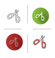 pet nail clippers icon vector image vector image