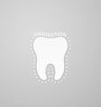 Protection tooth vector image vector image