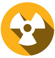 radiation flat style icon with long shadows vector image