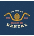 Retro Bike Rental Label or Logo Design vector image vector image