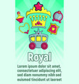 royal concept banner cartoon style vector image vector image