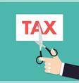 scissors tax income taxation vector image