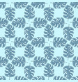 seamless geometric floral pattern with blue vector image
