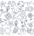 seamless patterns for the summer theme vector image vector image