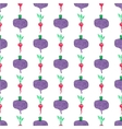 Seamless watercolor pattern with beetroot and vector image vector image