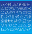 set 54 white thin line icons vector image